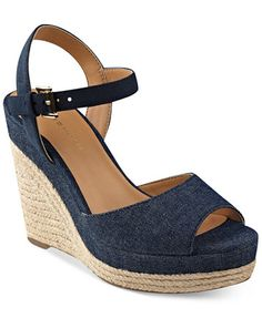 33b8860f6 Tommy Hilfiger Kali Platform Espadrille Wedge Sandals   Reviews - Sandals   Flip  Flops - Shoes - Macy s