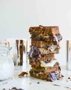 Banana Bread, Brie and Chocolate Grilled Cheese. | howsweeteats.com