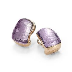 Roberto Coin - Class & Colour Earrings in 18kt Rose Gold with Amethyst