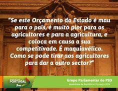Palavras do Grupo Parlamentar do Partido Social Democrata no Debate do Orçamento do Estado para 2016 na Especialidade com o Ministro da Agricultura, Florestas e Desenvolvimento Rural. #PSD #acimadetudoportugal