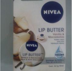 Maquiagem de óculos: Protetor labial Nívea Lip Butter Vanilla e Macadâm...
