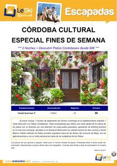Escapada Cultural Córdoba: 2 Noches Fin de Semana Octubre + Descubrir Patios Cordobeses desde 90€ ultimo minuto - http://zocotours.com/escapada-cultural-cordoba-2-noches-fin-de-semana-octubre-descubrir-patios-cordobeses-desde-90e-ultimo-minuto/
