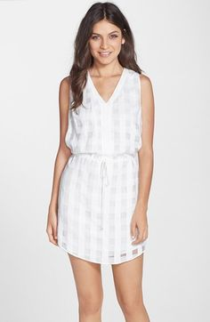 Adelyn Rae Shadow Check Blouson Dress available at #Nordstrom
