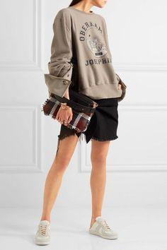 Maison Margiela - Oversized Printed Cotton-jersey Sweatshirt - Taupe