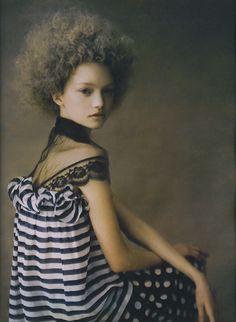 Gemma Ward by Paolo Roversi - W Magazine, April 2004.