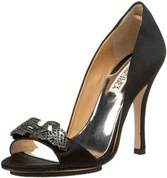 Live the lavish lifestyle in this ravishing and sophisticated D'orsay from Badgley Mischka. Isadora brings you a rich black satin upper with a gorgeous and unique rhinestone brooch at the vamp. A 4 inch heel completes this tasteful pump. http://www.amazon.com/dp/B004SFNRLW/?tag=icypnt-20