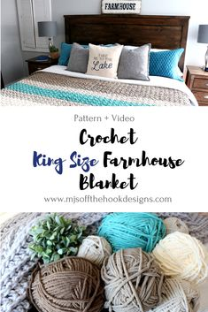 Free Pattern to crochet a king size Farmhouse Blanket! As many of you know my house is full of cozy crochet blankets! We have many favourites but nothing beats the soft coziness of my Chevron Tass… Crochet Afghans, Crochet Blankets, Crochet Stitches, Diy Blankets, Chunky Crochet, Easy Crochet, Crochet Ideas, Crochet Projects, Free Crochet