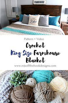 Free Pattern To Crochet a King Size Farmhouse Blanket