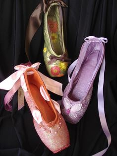 These are $25 each! I have my old pointe shoes and could totally do this myself.   Beautiful decorations for a dancer's bedroom!! <3