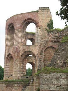 Roman baths - Trier, Germany...I have a pic of me standing here