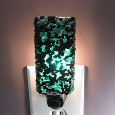 Sparkly Black and Teal Kitchen or Bathroom Night Light on Etsy, $25.00