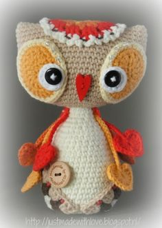 Just made with love by Antoinette: Baby Owl Emma en zieke Rudolfje