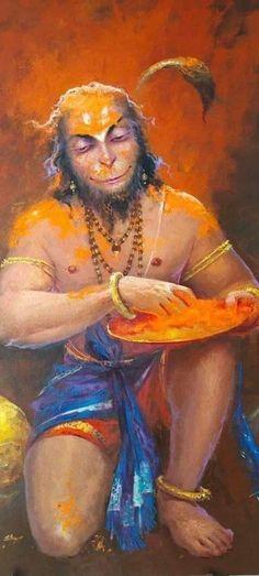 A devotee of Ram. Hanuman Photos, Hanuman Chalisa, Jai Hanuman Images, Hanuman Ji Wallpapers, Lord Rama Images, Shiva Shakti, Rudra Shiva, Shiva Art, Lord Krishna Images