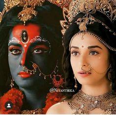 Jay Maa Kali, Shiva Parvati Images, Pooja Sharma, Kali Goddess, Symbols Of Strength, Radha Rani, Hindu Deities, Beautiful Images, Asia
