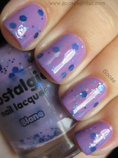 Nostalgic - Blane (over OPI - A Grape Fit). From Goose Glitter.