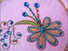 Hand Embroidery Designs   Hand embroidery for dress   Stitch and Flower-67 - YouTube