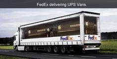 FedEx sa posmieva UPS. Skvelá autoreklama...