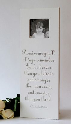 """8x20 """"Promise me you'll always remember.."""" Winnie the pooh frame"""