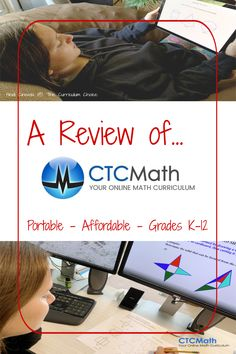CTCMath Homeschool Math Review - The Curriculum Choice Homeschool Math, Curriculum, Homeschooling, Programming For Kids, Calculus, Teaching Math, Kids Learning, Elementary Schools, Middle School