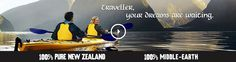 Lovely Tourism NZ web banner – layered scenery with rollover parallax scrolling effect.