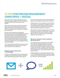 10 Tips for Driving Engagement Using Email + Social