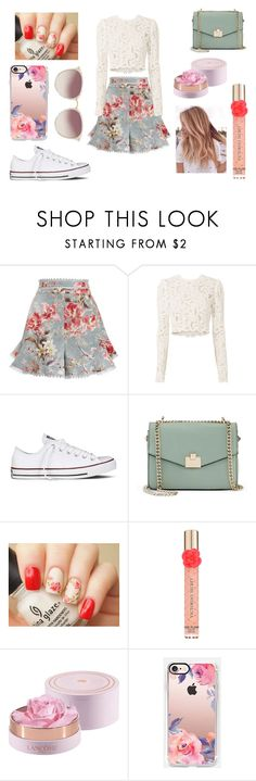 """""""Floral"""" by taylorgarcia-iii ❤ liked on Polyvore featuring Zimmermann, A.L.C., Converse, Jennifer Lopez, Victoria's Secret, Lancôme, Casetify and Linda Farrow"""