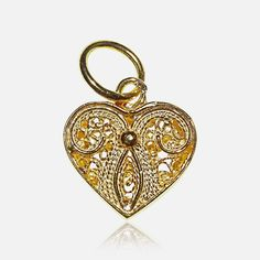 Lovefiligree pendant  14€  Silver 925 - 24K Golg Plating H. 1.10cm x 1.25cm Deliver 48H from purchase  Handmade with love