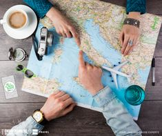 Young couple planning honeymoon vacation trip with map. Pointing to Europe Rome - stock photo Honeymoon Vacations, Vacation Days, Summer Vacations, Top Travel Websites, Travel Destinations, Travel Tips, Travel Expert, Travel Books, Travel Plan