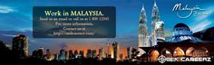 Work in ‪#‎MALAYSIA‬. contact us at:- www.seekcareerz.com
