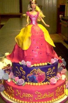 Barbie Cake By www.sweetaddictioncake.com