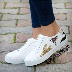 Nimes Simli Spor Ayakkabı #sneakers #shoes #white