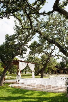 Sweet #ceremony #setting | Rustic Texas Wedding at Memory Lane Weddings from Kristi Wright Photography  Read more - http://www.stylemepretty.com/texas-weddings/2013/08/22/rustic-texas-wedding-at-memory-lane-weddings-from-kristi-wright-photography/
