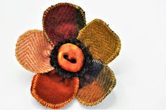 coat pin lapel tweed jacket brooch pin handmade orange handcrafted corsage shawl cape coat boho scarf wrap coat hat flower 10 cm ooak by edgeofthesand on Etsy Wrap Coat, Scarf Wrap, Handmade Christmas Gifts, Handmade Gifts, Coat Pin, Hat Flower, Wool Cape, Tweed Jacket, Corsage