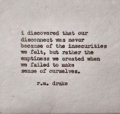We can only find ourselves in ourself.