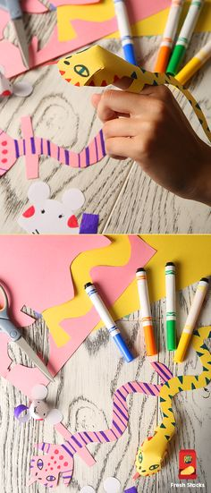 These cute finger puppets are fun in just the right size, and you only need three things to make them! Just gather construction paper, glue, and scissors for a craft project you can do with the kids.