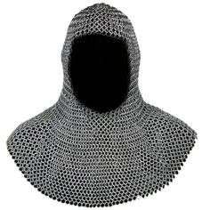 Butted Silver Chainmail Coif