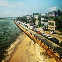 A view of The Battery in Charleston