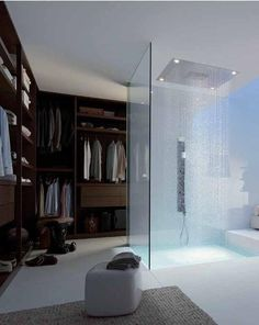 Nice shower and walk-in-robe spatial design.