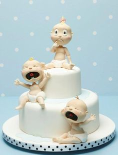 Babies, sugar art by Carlos Lischetti