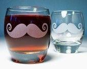 2 Mustache Rocks Glasses