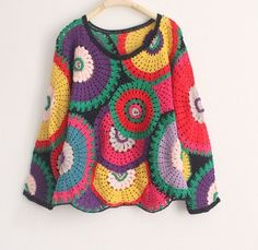 Crochet sweater, girl sweater, women sweater