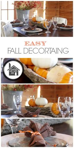 Easy Fall Decorating Ideas - I'm really looking forward to setting up for autumn!