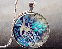 The Color of Music pendant, music necklace resin pendant, music jewelry, music jewellery