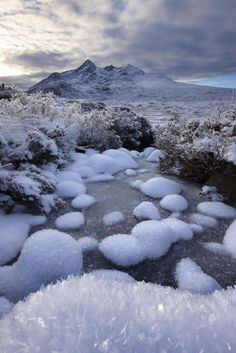 Glen Sligachan & the Cullin in winter, Isle of Skye, Outer Hebrides, Scotland Beautiful World, Beautiful Places, Nature Landscape, Scottish Highlands, Highlands Scotland, All Nature, Scotland Travel, Winter Scenes, British Isles