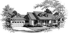 Plan W3424VL: Farmhouse, Ranch House Plans & Home Designs