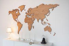 World map Oak – Mapawall.com