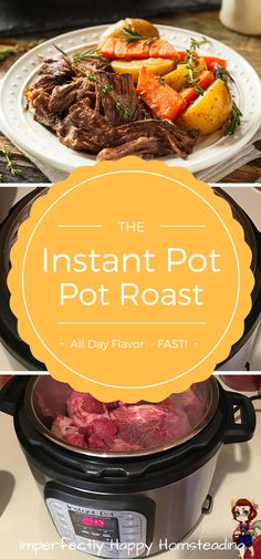This herb-infused pressure cooker pot roast, made in the Instant Pot, is sure to be the best roast you've ever made or eaten!