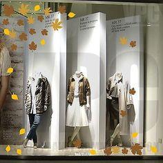 adesivi vetrine foglie autunno inverno negozi vetrofanie stickers leaves autumn • EUR 10,00