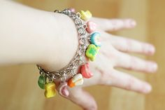 DIY Lucky Charms Bracelet ~ This should last you more than 1 year. Now, go make this ~ you've got plenty of time before this St. Paddy's to get this look for yourself!