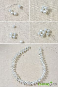 There are many white pearl bead jewelry on our website. In this tutorial, I will show you how to make a bridal white pearl bead statement necklace. Diy Earrings Pearl, Beaded Statement Necklace, Pearl Beads, Beaded Necklaces, Beaded Bracelets Tutorial, Beaded Bracelet Patterns, Bead Jewellery, Seed Bead Jewelry, Chain Jewelry